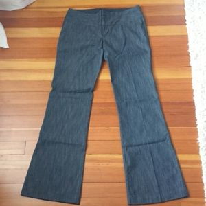 Denim look dress pants